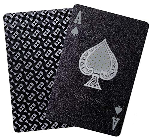 Buy J.C. Black Diamond Waterproof Playing Cards Novelty (HD,1 Deck of Cards, Poker Cards Deck)