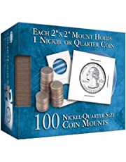Nickel/Quarter 2x2 Coin Mount Cube 100 Count