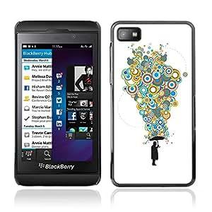 CASETOPIA / Bubble Thoughts / Blackberry Z10 / Prima Delgada SLIM Casa Carcasa Funda Case Bandera Cover Armor Shell PC / Aliminium