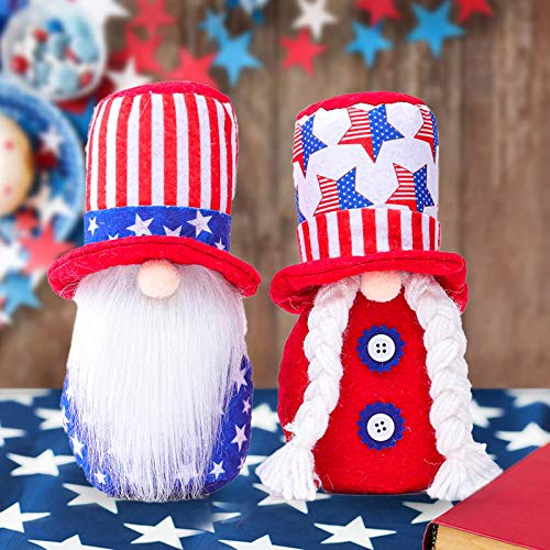 Gerbrief Gerbrief Gnome Plush Collectible Dolls Decoration Patriotic Tomte Veterans Day Household Ornaments Decor Garden Dolls Home Collectible Gifts (V)