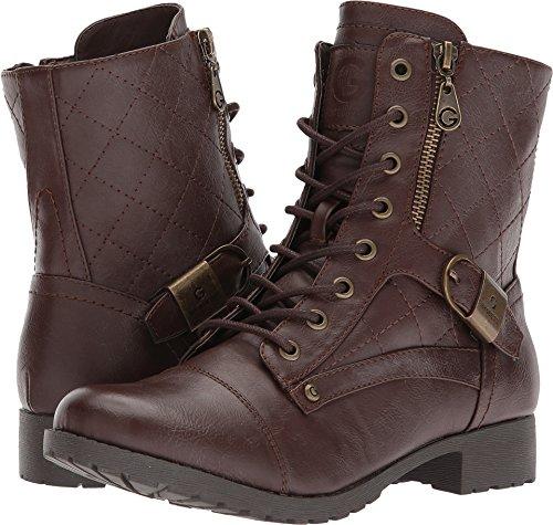 Fashion Brittian Boots Womens Espresso Mid By Guess Peep Toe G Calf q6wg8tW