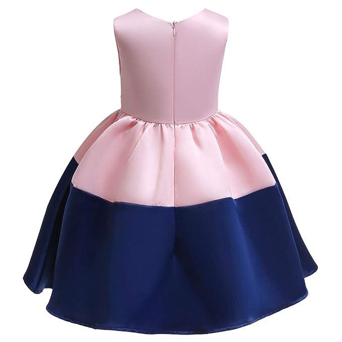 5bcc8c1d3 Amazon.com: WEONEDREAM Flower Girl Pageant Dress Girls Elegant Wedding  Princess Gown Party Dresses: Clothing