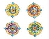 Set of 4 Diyas Handmade Decorative Diwali Clay Diyas For Diwali Decoration Terracotta Clay Oil Lamps