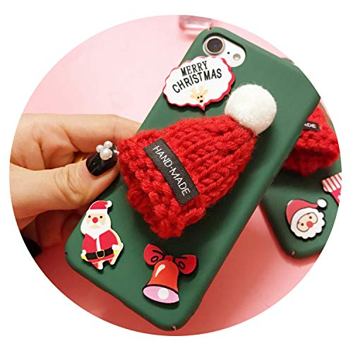 Red Hat Protective Case Hard Shell Compatible for iPhone,Christmas Sign,for iPhone 7Plus ()