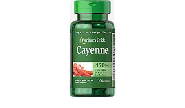 PURITANS PRIDE - CAYENA (CAPSICUM) 450 MG. 100 C. PURITAN: Amazon.es: Salud y cuidado personal