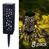 Tools & Hardware : Maggift 8 Pcs Solar Powered LED Garden Lights, Automatic Led for Patio, Yard and Garden