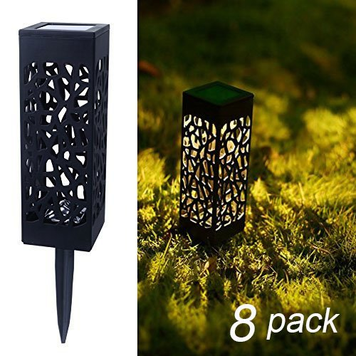 Maggift 8 Pcs Solar Powered LED Garden Lights, Automatic