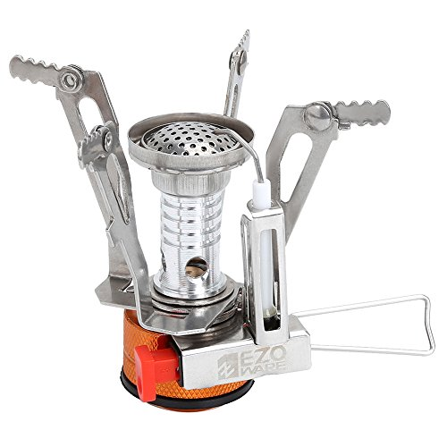 EZOWare Portable LightWeight Mini Outdoor Backpacking Camping Stove Burner Cookware (Small Portable Gas Oven compare prices)
