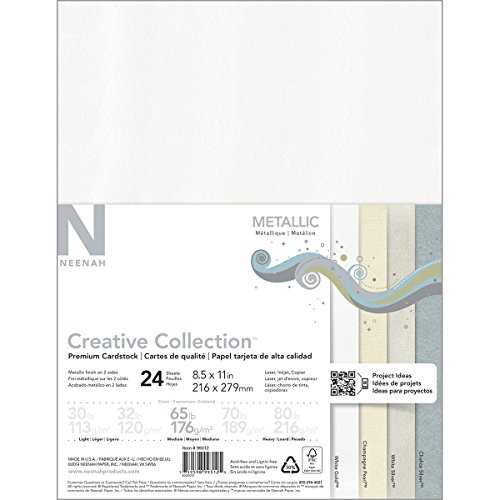 Neenah Paper Metallic Cardstock, Multi-Colour, 27.94 x 21.59 x 0.63 cm ()