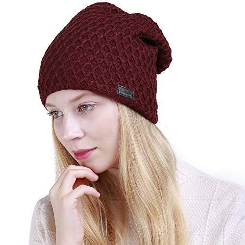 Muryobao Warm Winter Hat Slouchy Beanie Hat Skully Crochet Knit Snow Ski Cap for Women ()