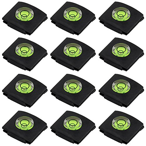 Set of 12 Hot Shoe Covers, SENHAI Camera Flashlight Hotshoe Cover of Bubble Spirit Level for Canon Nikon Panasonic Fujifilm Olympus Sigma PENTAX DSLR SLR
