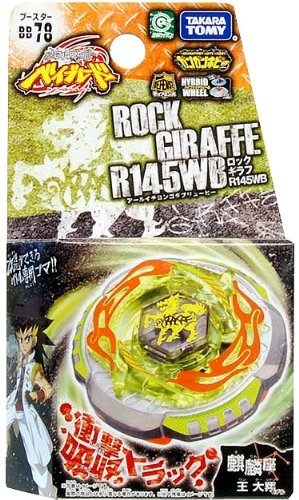 Takaratomy Beyblades #BB78 Japanese Metal Fusion R145WB Booster Rock Giraffe Battle Top