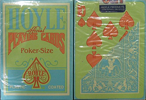 Us Playing Cards Lot 24 Hoyle Green Orange Playing Cards