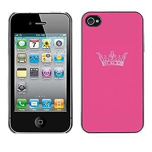 For Apple iPhone 4 / iPhone 4S / 4S Case , King Pink Brand Minimalist Design - Diseño Patrón Teléfono Caso Cubierta Case Bumper Duro Protección Case Cover Funda