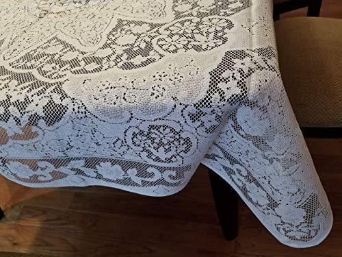 AdonisUSA Aristrocrata White Lace Tablecloth Available in 40