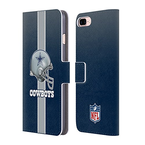 Official NFL Helmet Dallas Cowboys Logo Leather Book Wallet Case Cover for iPhone 7 Plus/iPhone 8 Plus ()