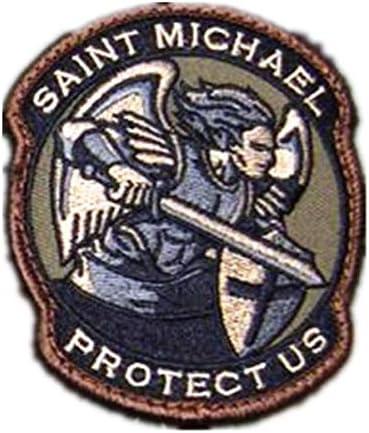 Morton Home-Badge Archangel,Saint Michael Us Stickers Michael Patch
