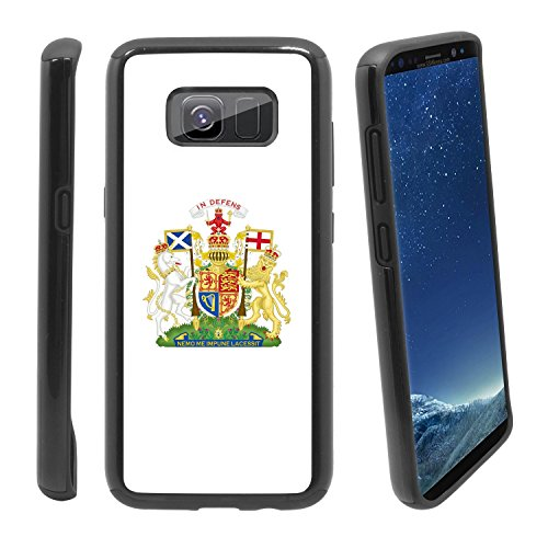 (Shockproof Samsung Galaxy S8 Anti-Scratch Dual Layer Black Rugged Protective Case with Color Printing - Royal Coat of Arms of Scotland)