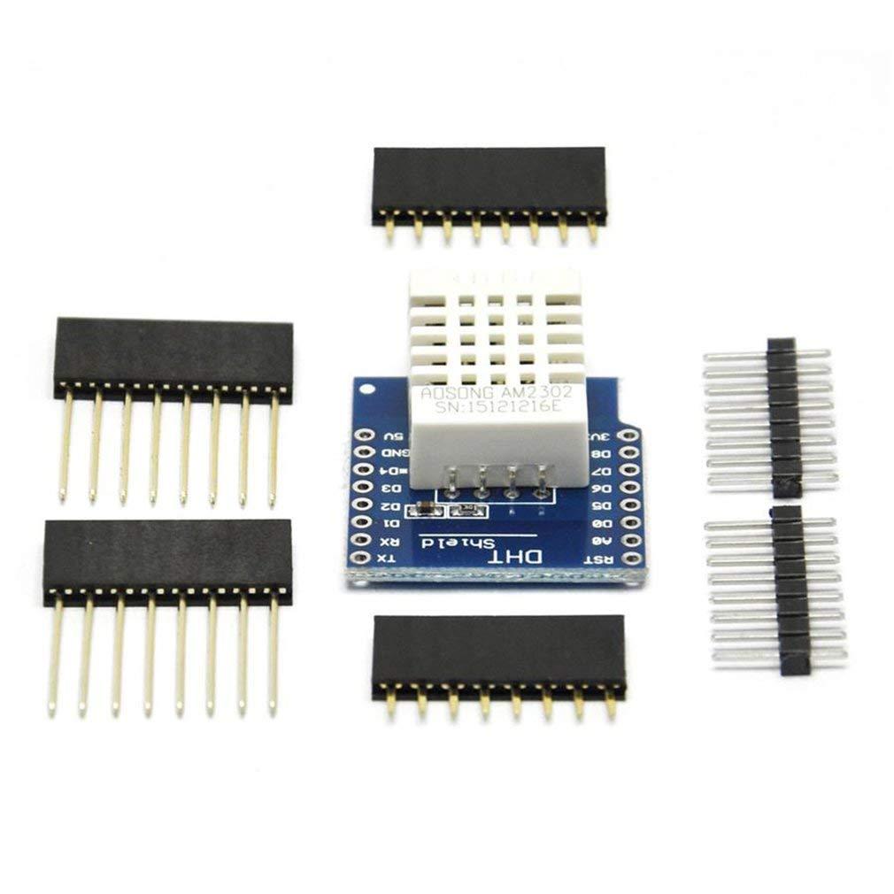 DHT22 AM2302 Module de Blindage de capteur de temp/érature et dhumidit/é pour D1 Mini Wemos Multicolore