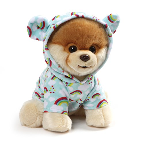 "GUND World's Cutest Dog Boo Plush Rainbow Outfit Stuffed Animal Plush, 9"""