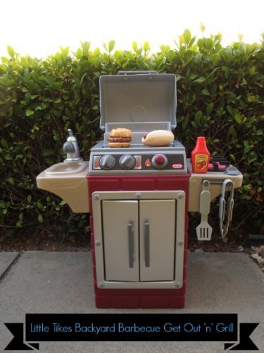 Little Dudes Kids Realistic Looking Backyard Patio Deck Grillin Barbeque with Bonus Tool Set. This Cooker Has Utensils and Food That Add to the Excitement of Cooking! Moving Knobs, Burners, and a Side Sink Help Little Ones Develop Manual Skills and Work Like Mom and Dad. Bbq Is Composed of High-quality Materials and Will Last with the Uv Rays of Outside. This Playset Also Works Great Inside Your Childs Home.