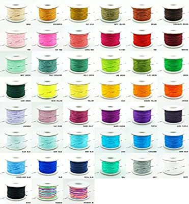 0.8mm Chinese Knot Nylon Braided Cord Beading String, 10 X 50yards Spool (PICK YOUR COLORS!)