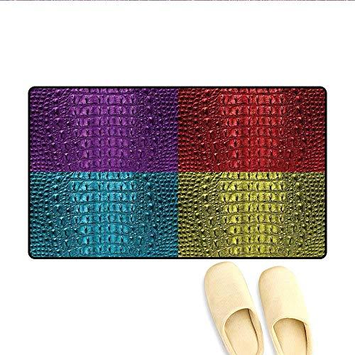 Doormat Pop Art Crocodile Skin Leather Pattern Colorful
