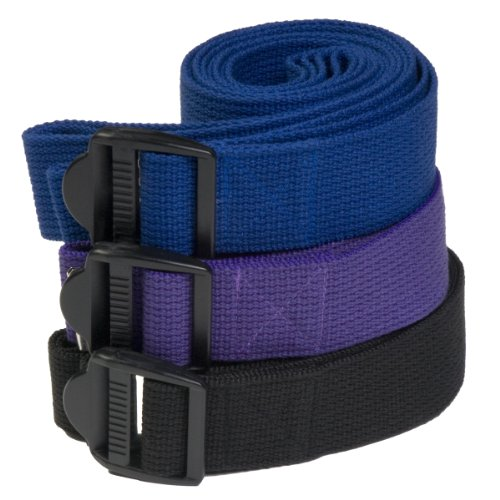 Yoga Direct 10-Feet Yoga Strap with Clip Style Buckle, Blue