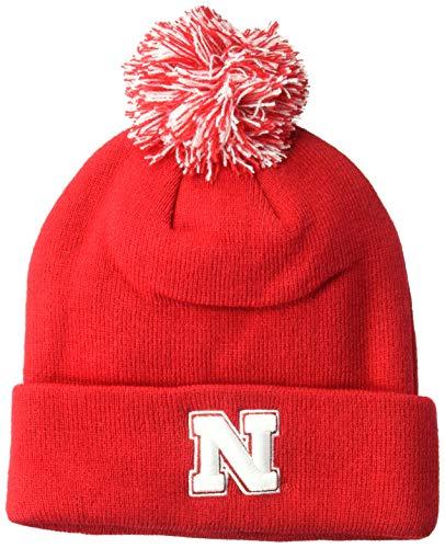 c0842c48baf ZHATS NCAA Nebraska Cornhuskers Adult Men Pom Knit Beanie ...