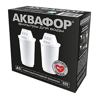 Aquaphor 2 x Cartuchos filtradores de agua A5 MG.+ (Magnesio) Reichert el