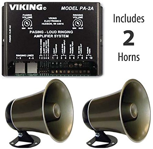 Viking Multi-line Loud Phone Ringer / Pager System with TWO Horns ()