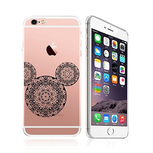 iPhone 5 / 5S / SE, Cute Animal Mandala Lace Pattern Ultra Slim Silicone Phone Case Back Cover