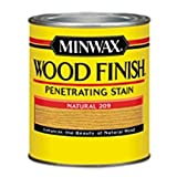 Minwax 220904444 Wood Finish Penetrating Interior Wood Stain, 1/2 pint, Natural