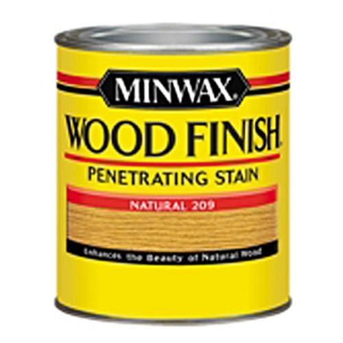 Minwax 220904444 Wood Finish Penetrating Interior Wood Stain, 1/2 pint, Natural - Natural Wood Floor Finish