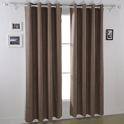 With Mk Deconovo Blackout Curtain Panels Heavy Thick Grommet Top Curtains With Coating Back