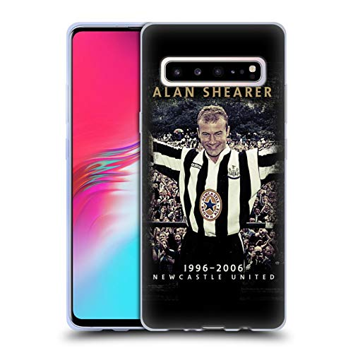 nited FC NUFC Alan Shearer Retro Badge Collection Soft Gel Case for Samsung Galaxy S10 5G ()