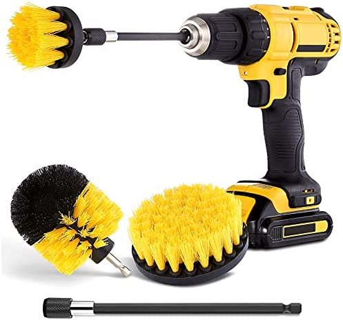 Garden hose rotary brush