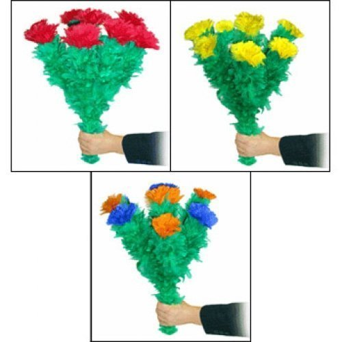 Blooming Feather Bouquet Magic Tricks (Triple) by D. Robbins