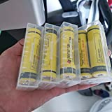 4 pcs Clear Color Battery Storage Case Holder