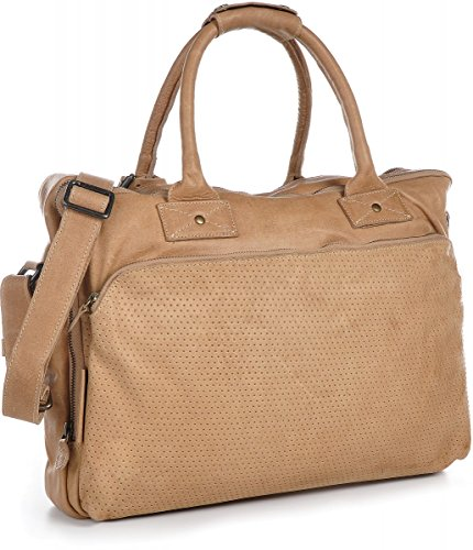 LEGEND, Leder, Unisex - Erwachsene Laptoptaschen, Handtaschen, Aktentaschen, Messengerbags, Ledertaschen, Vintage-Optik, Umhängetaschen, DIN-A4, Leder, Beige, Camel, 42x32x8cm (B x H x T)