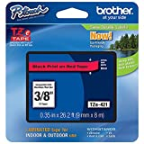 Brother 3/8 Inch Black On Red P-Touch Tape All Tz Machines Professional Grade Highest Quality