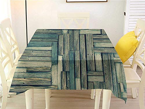 (L'sWOW Outdoor Round Tablecloth Square Wooden Lumberjack Old Vintage Classic Deck Tree Forest Woods Natural Artwork Image Sage Green Beige Clean 50 x 50 Inch)