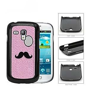Pink Glitter Mustache Trend Hard Plastic Snap On Cell Phone Case Samsung Galaxy S3 SIII Mini I8200