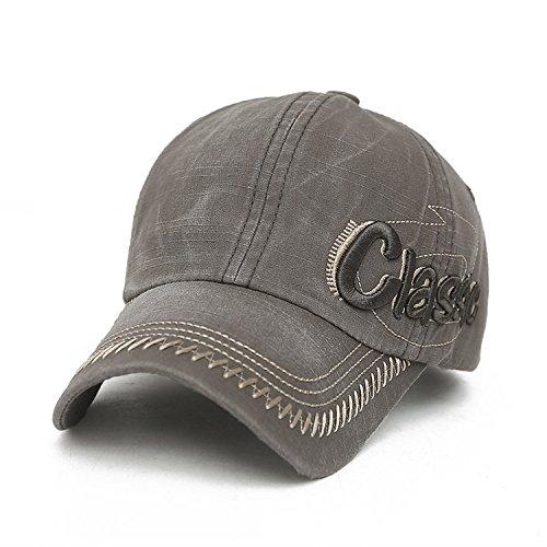 Men Baseball Caps Vintage Cotton Snapback Hat for Men Summer Cap Dad Cap Golf Cap Grey -