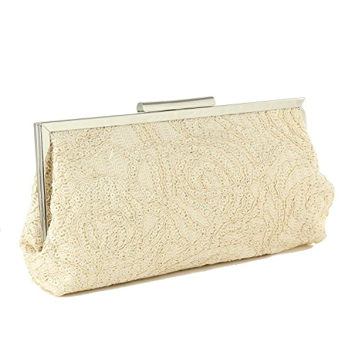 Purse Evening Handbags 986 Party Women's LeahWard Wedding Beige Clutch Bags wBqOZZxg
