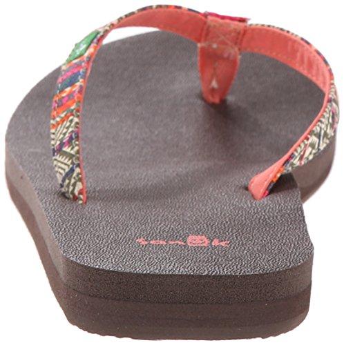 Women's Olive Multi Tribal Joy Flop Yoga Stripe Flip Funk Sanuk f4nRwdqfa
