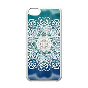 White Mandala iPhone 5c Cell Phone Case White yyfabd-360695