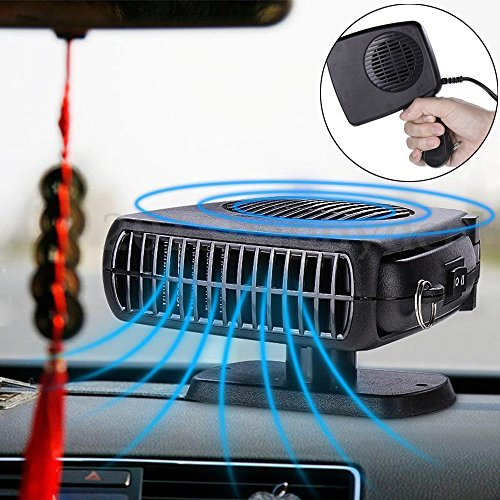 bluecookies 12v portable car heater cooler defroster fan plug into cigarette lighter. Black Bedroom Furniture Sets. Home Design Ideas