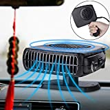Bluecookies 12V Portable Car Heater Cooler Defroster Fan Plug into Cigarette lighter