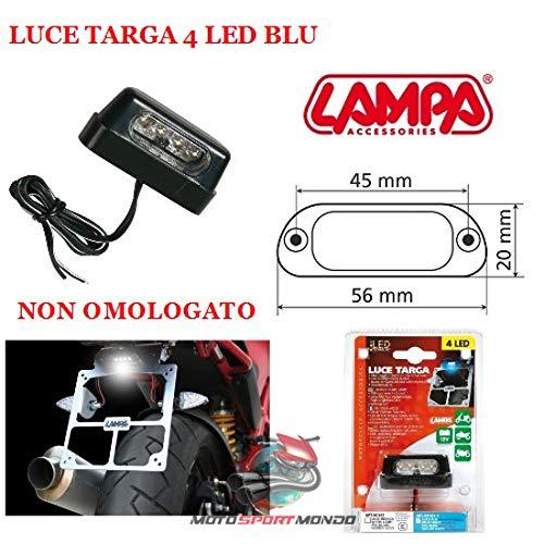 Veilleuse Support de Plaque dimmatriculation pour Moto Lampa 90163/Universel Faible consommation imperm/éable Couleur ble Haute luminescenza